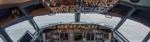 In Boeing 737, airport Pulkovo, Russia Saint-Petersburg 11 November 2016